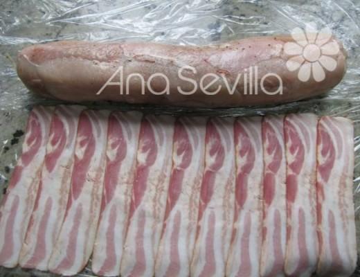 Cubrir con las lochas de bacon superpuestas