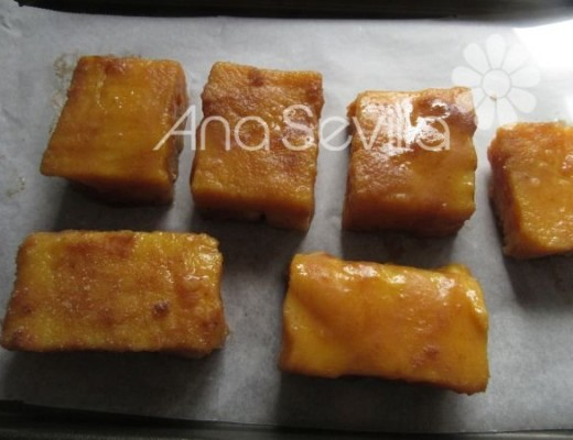 Podéis hacerlas al horno rebozadas (sin huevo) y con azúcar y canela