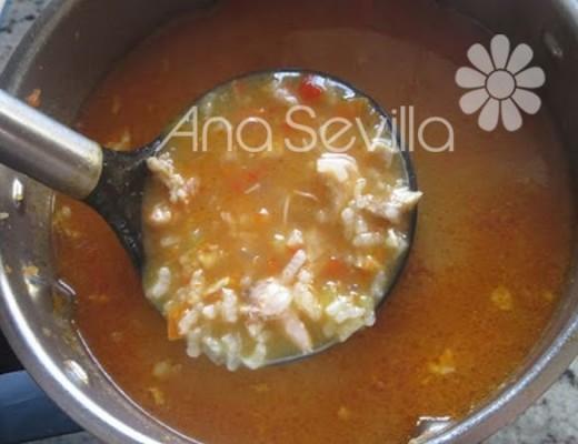 Sopa de arroz thermomix