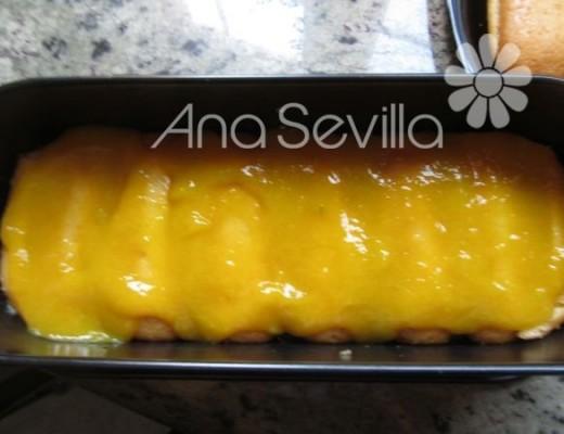 Capa de mango y encima capa de mascarpone