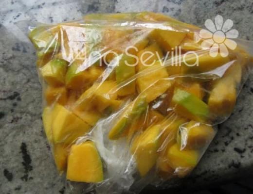 Congelar mango maduro