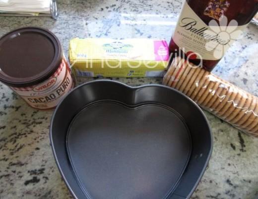 Ingredientes base galletas cacao