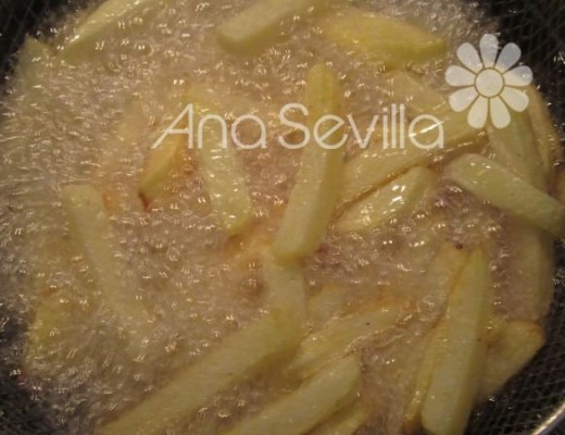 Freír las patatas