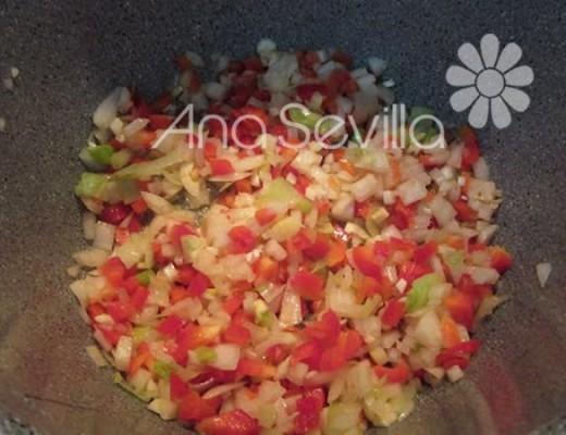 Pochar las verduras de la salsa