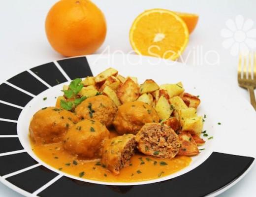 Albóndigas en salsa de naranja