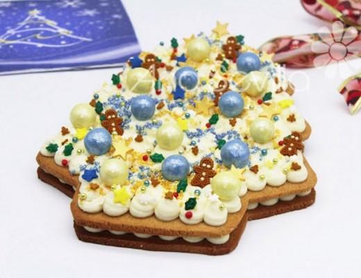 Tarta galleta de jengibre de Navidad