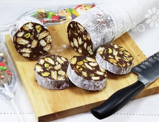 Salchichón de chocolate portugués