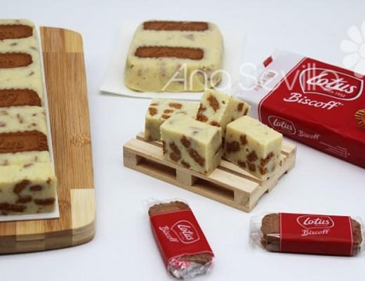 Turrón de queso y galletas Lotus