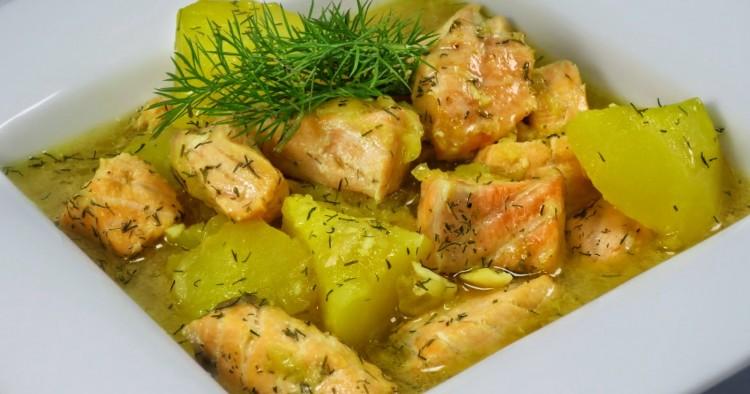 Guiso de salmón con patatas