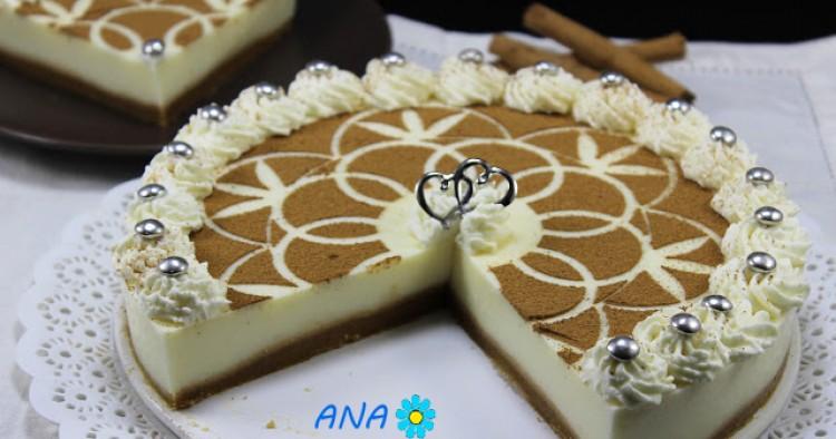 Tarta de canela y nata