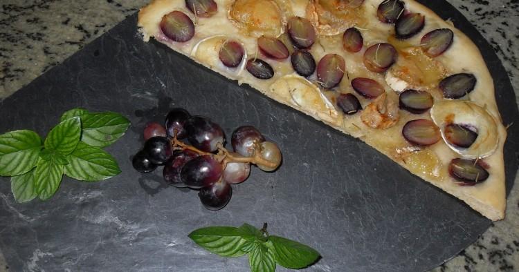 Focacia de uvas y queso Thermomix