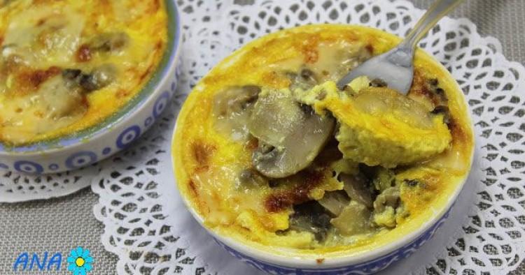 Champiñones a la crema de curry