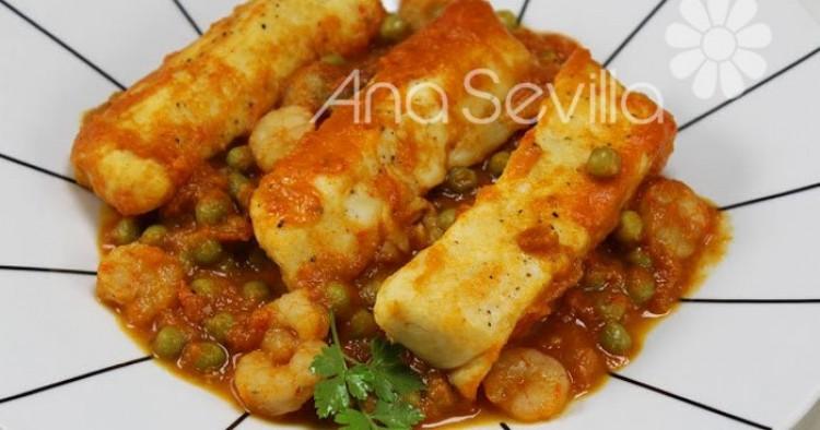 Merluza en salsa navarra