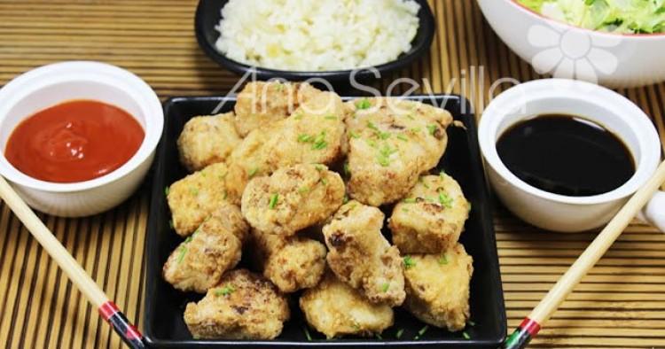 Pollo rebozado japonés