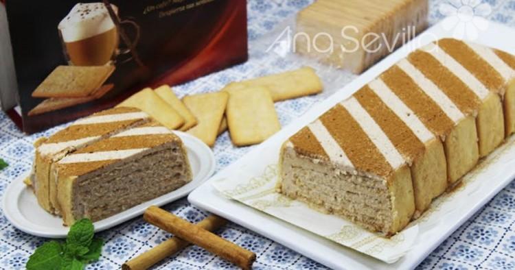 Tarta de galletas de canela
