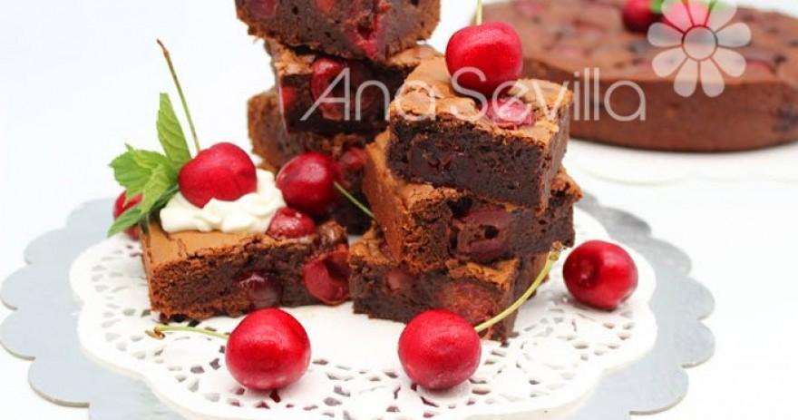 Brownie de cerezas