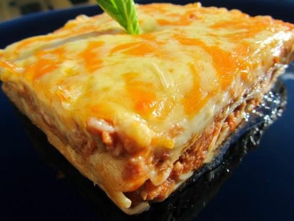 Canelones o lasaña de carne y paté Ana Sevilla cocina tradicional