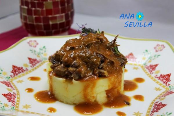 Rabo de toro o ternera al vino tinto, Thermomix Ana Sevilla