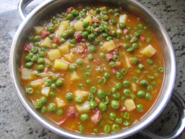 Guisantes guisados Thermomix
