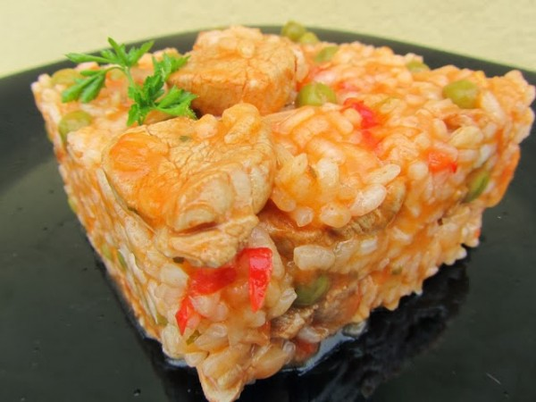 Arroz de solomillo adobado Thermomix