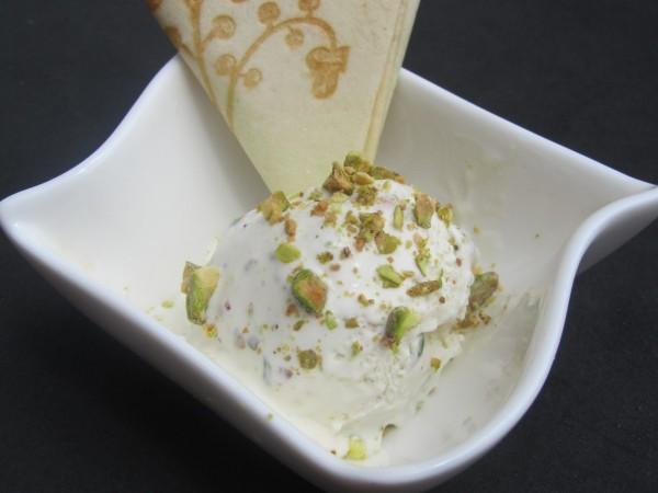 Helado de yogurt y pistachos con Thermomix