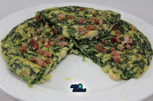 Tortilla de espinacas Ana Sevilla con Thermomix