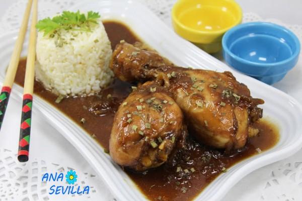 Jamoncitos de pollo teriyaki Cocina tradiciona Ana Sevilla