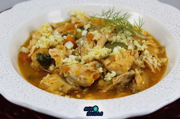 Cazuela de salmón y verdura Ana Sevilla olla GM