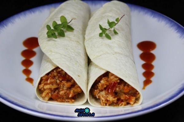 Tacos o tortitas de pollo y tomate Ana Sevilla con Thermomix