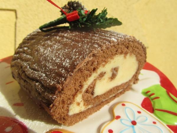 Tronco de chocolate de Navidad Thermomix