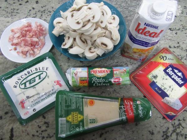 Salsa de queso y champiñones olla GM