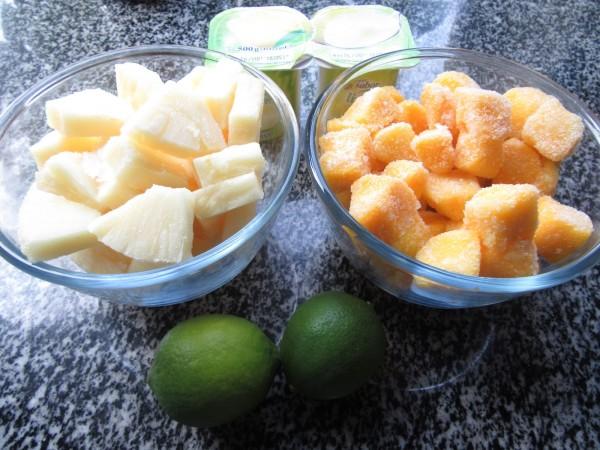 Sorbete de piña y mango Thermomix