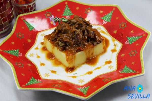 Rabo de toro o ternera al vino tinto, cocina tradicional Ana Sevilla