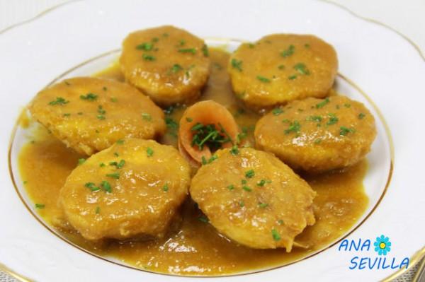 Huevos en salsa española olla GM