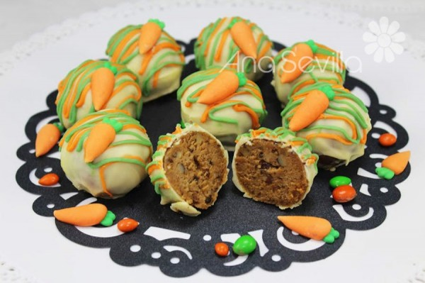 Trufas o cake pops carrot cake Thermomix