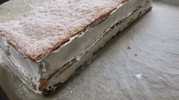 Milhojas de merengue expres Thermomix