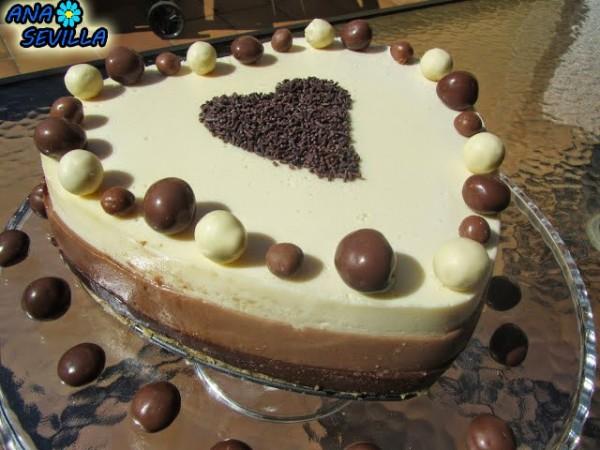 Tarta tres chocolates Ana Sevilla cocina tradicional