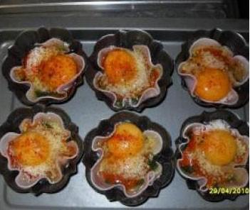 Cestitas de huevos y espinacas thermomix