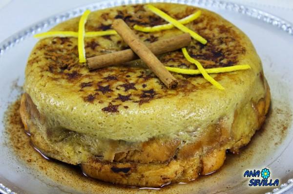 Torta de torrijas Ana Sevilla olla GM