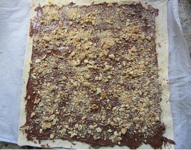 Palmeritas de nutella y frutos secos Thermomix