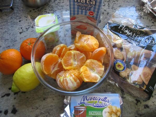 Tarta mousse de mandarina Thermomix