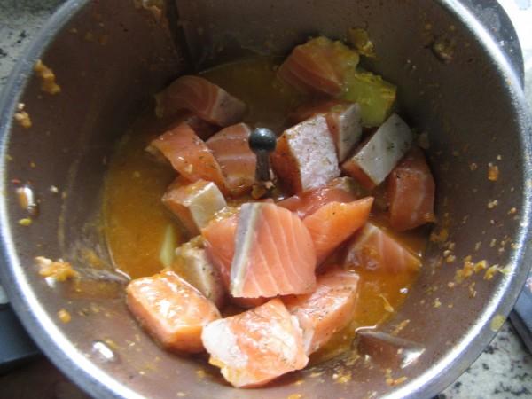 Marmitako de salmón Thermomix
