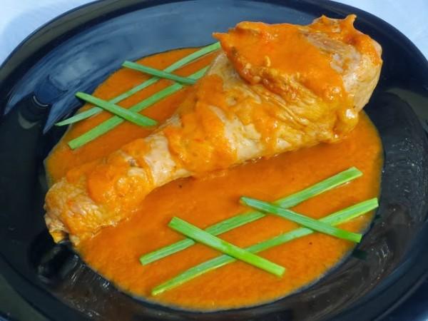 Muslos de pavo en salsa de verduras Ana Sevilla