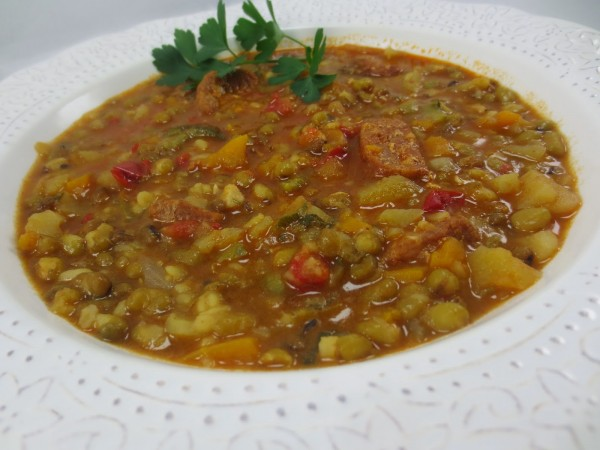 Potaje de soja verde Con Thermomix