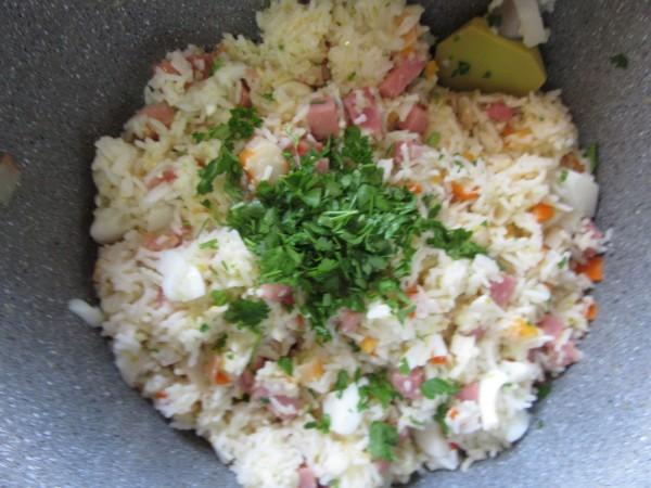 Ensalada de arroz al ajillo olla gm