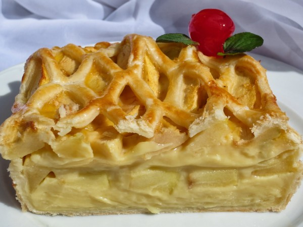 Tarta de crema y manzana Ana Sevilla con Thermomix