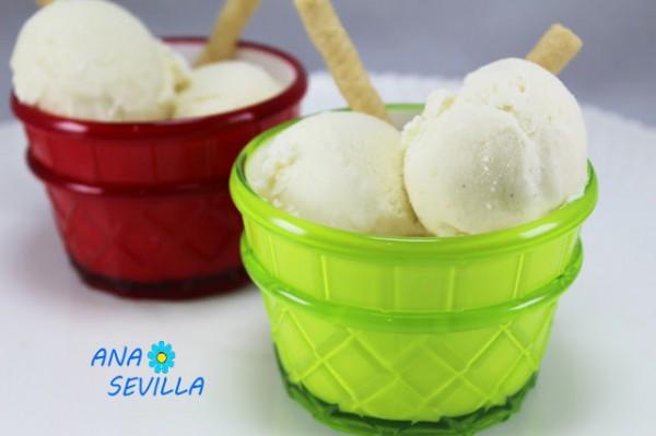 Helado de vainilla expres (Sin huevo) Ana Sevilla cocina tradicional