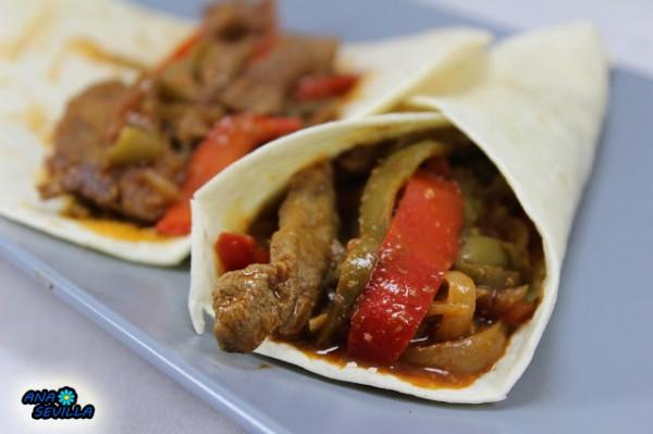 Tacos de ternera a la jardinera cocina tradicional Ana Sevilla
