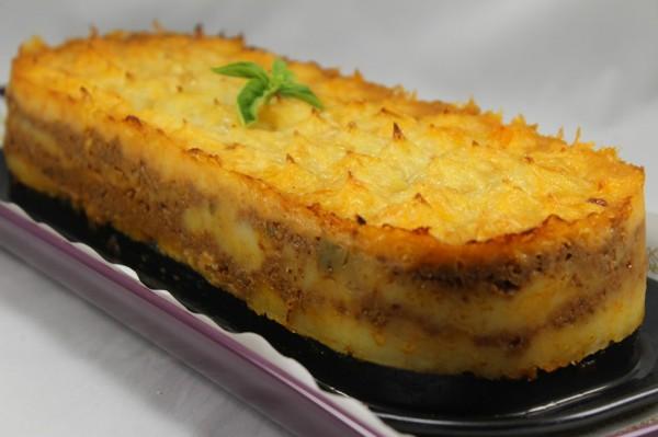 Milhojas de patata y carne Thermomix