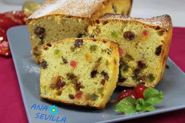Plum-cake de frutas escarchadas con Thermomix Ana Sevilla